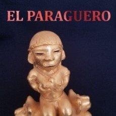 Arte: CACICA DE DOS JAGUARES PRECOLOMBINA TAIRONA DE ORO TUMBAGA PESO 66,7 GRAM - Nº43. Lote 180971700