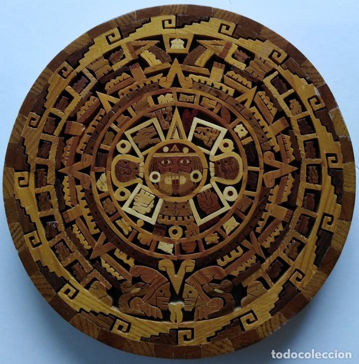 CALENDARIO AZTECA. PIEDRA DEL SOL. CUAUHXICALLI. (Arte - Étnico - América)