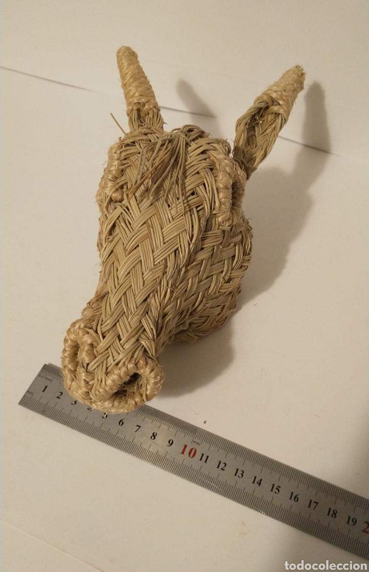 Arte: Artesanía en esparto. Cabeza de burrito - Foto 3 - 286492713