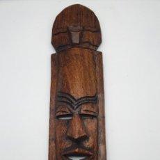 Arte: MÁSCARA ANTIGUA AFRICANA EN MADERA MACIZA TALLADA A MANO .. Lote 181153076