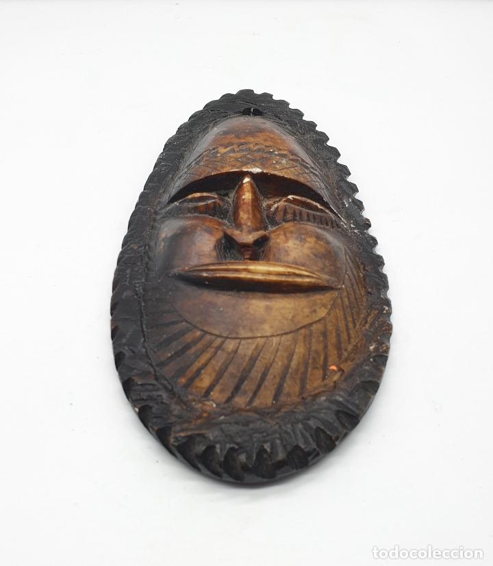 Arte: Mascara antigua Taína en piedra natural tallada a mano . - Foto 3 - 181155745