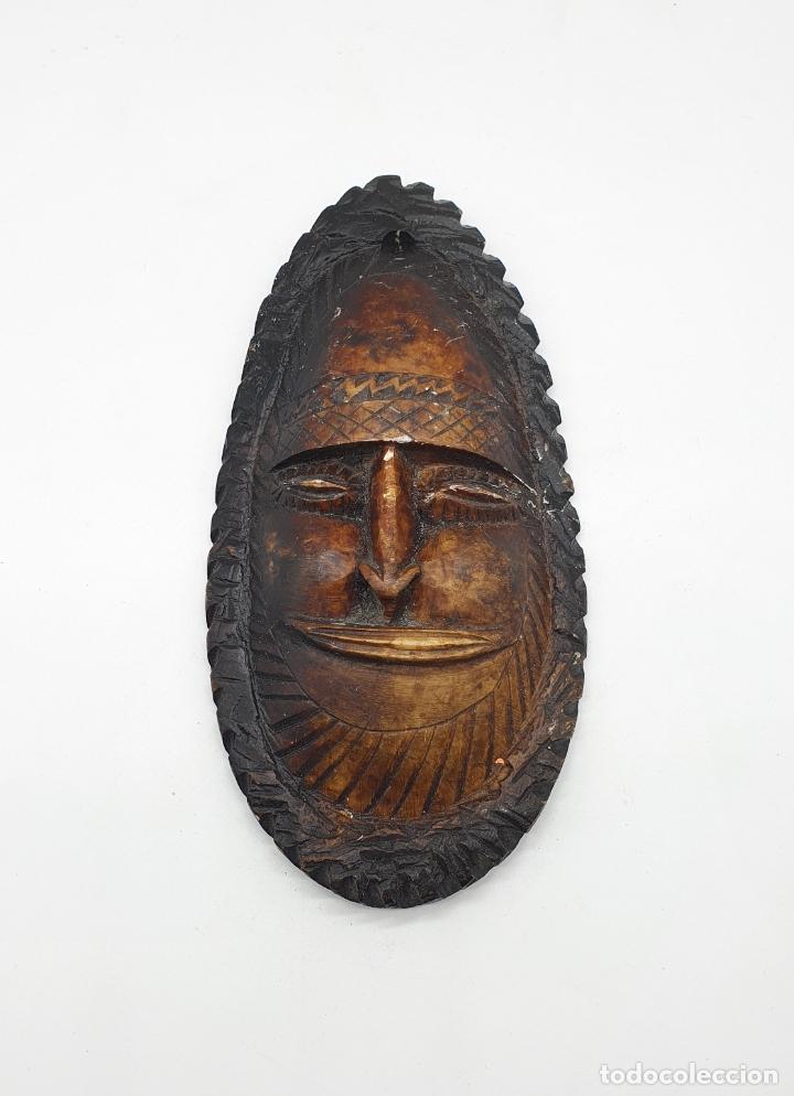 Arte: Mascara antigua Taína en piedra natural tallada a mano . - Foto 6 - 181155745