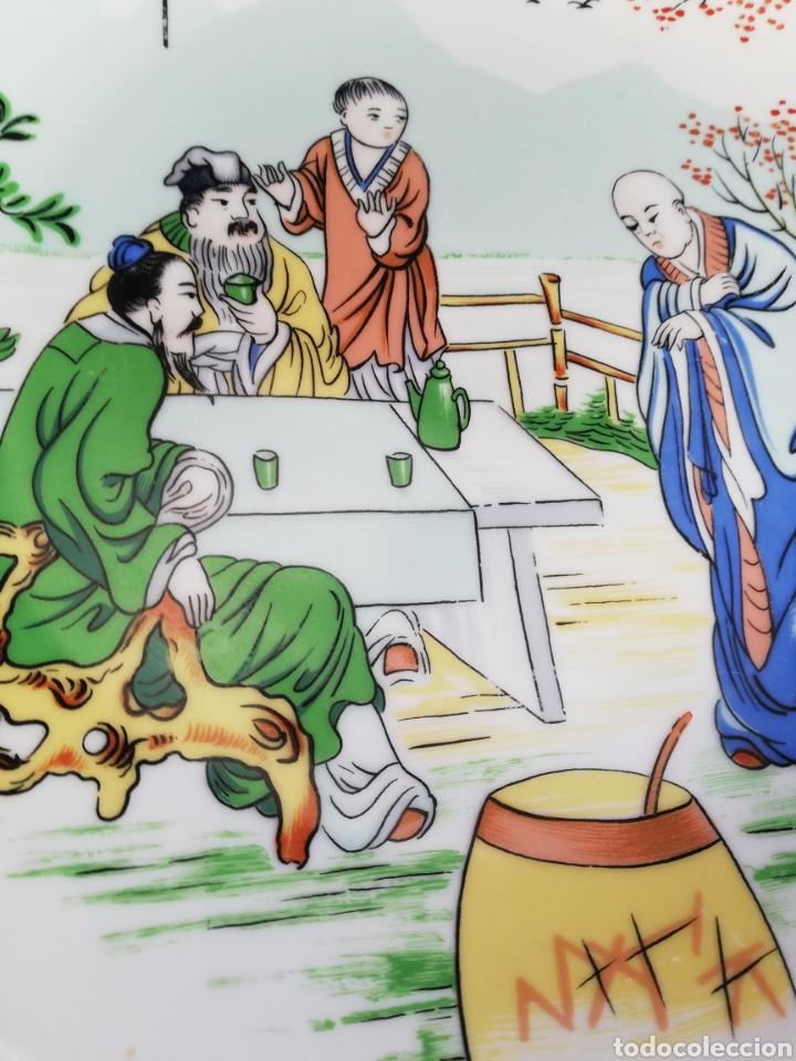 Arte: Pareja platos antiguos de porcelana China Dinastia Qing no firmado - Foto 2 - 181575706