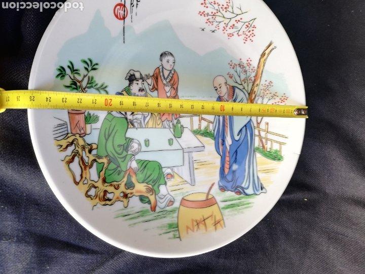 Arte: Pareja platos antiguos de porcelana China Dinastia Qing no firmado - Foto 5 - 181575706
