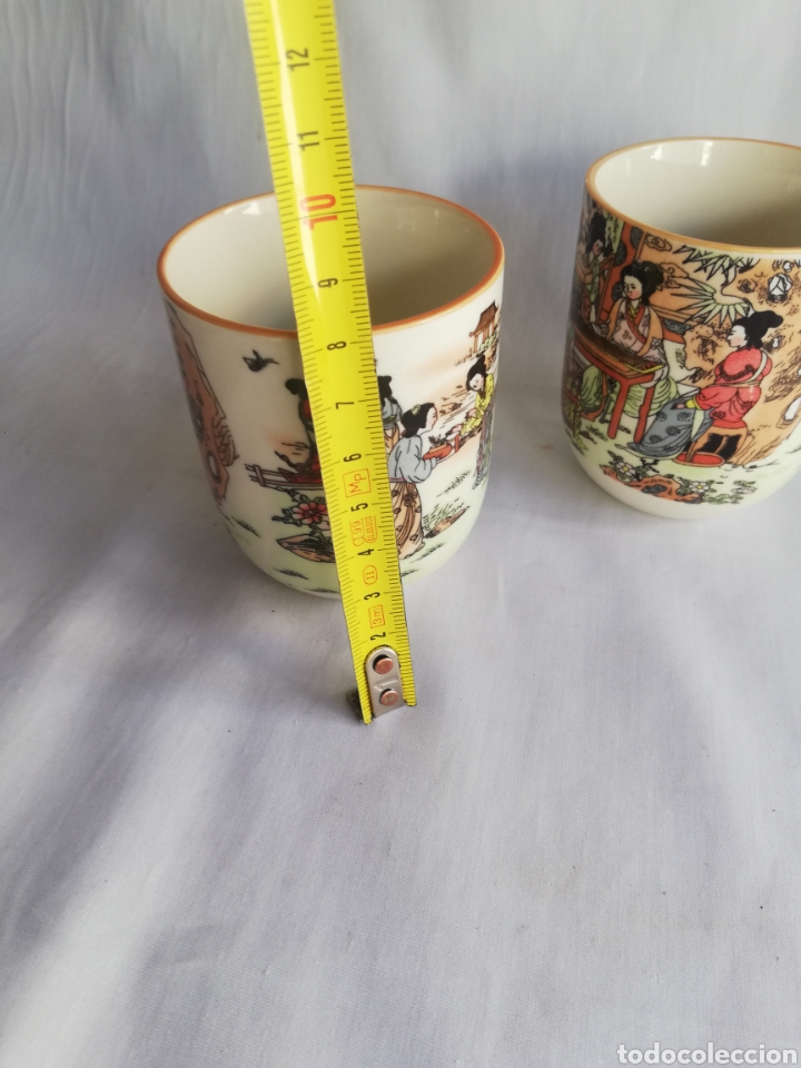 Arte: Tazas o vasos en ceramica china con sello y dibujos orientales - Foto 4 - 181980002