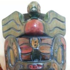 Arte: MÁSCARA AZTECA DE MADERA. AÑOS 70. Lote 182161762