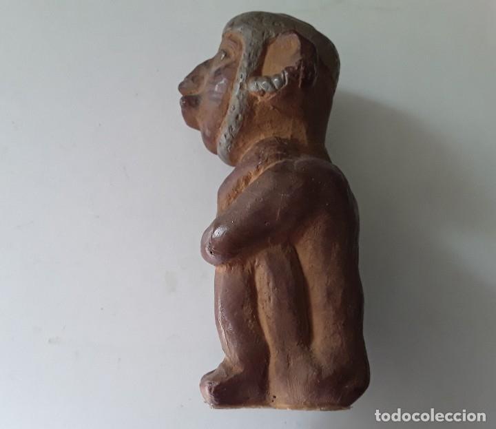 Arte: Figura de cerámica coloreada y pintada. Posiblemente de cultura azteca - Foto 6 - 182164238