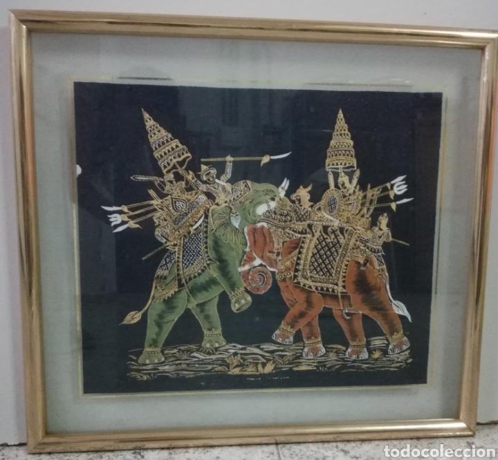 Arte: Colección de pintura oriental sobre tela - Foto 2 - 182218083