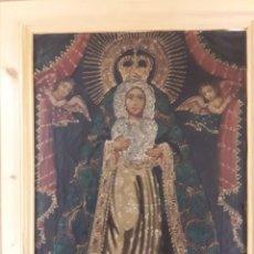 Arte: VIRGEN DE LA MACARENA. CUADRO AL ÓLEO ARTE CUZQUEÑO. ENMARCADO. Lote 182376090