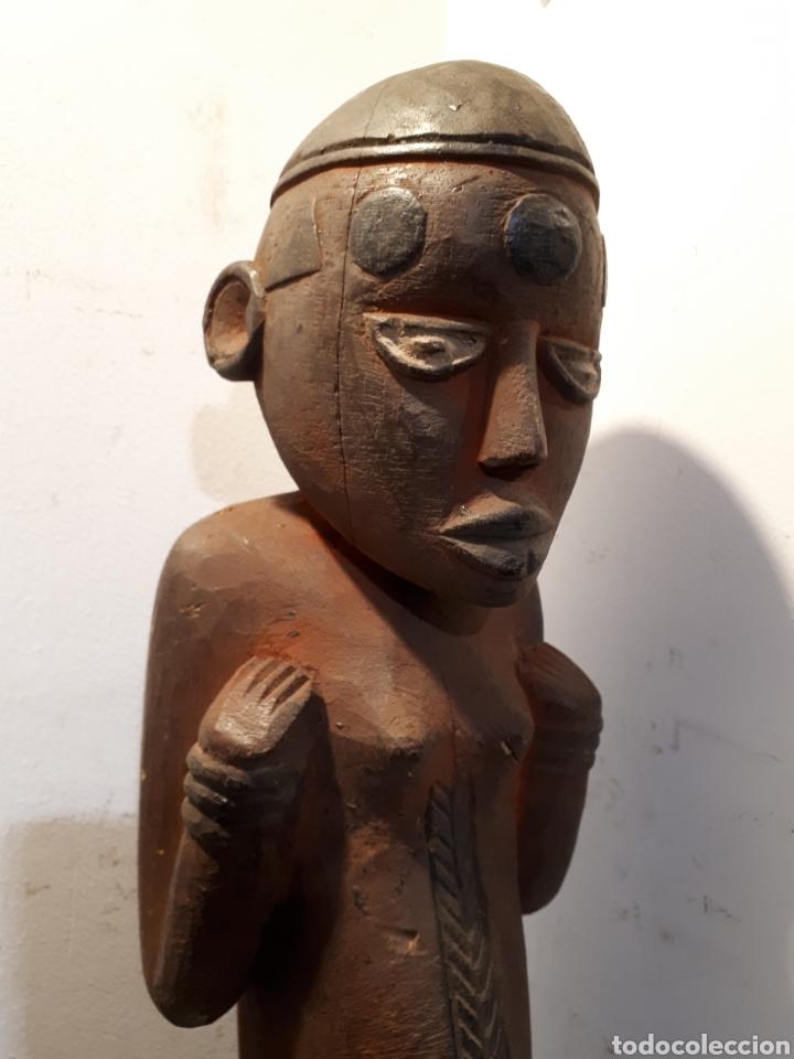 Arte: Talla africana madera 52 cm - Foto 2 - 182519222