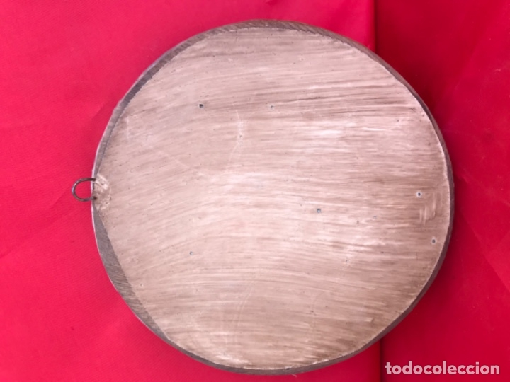 Arte: Antigua talla plato barco vikingo a mano sverige vintage suecia medallon tallado calidad una pieza - Foto 4 - 182939762