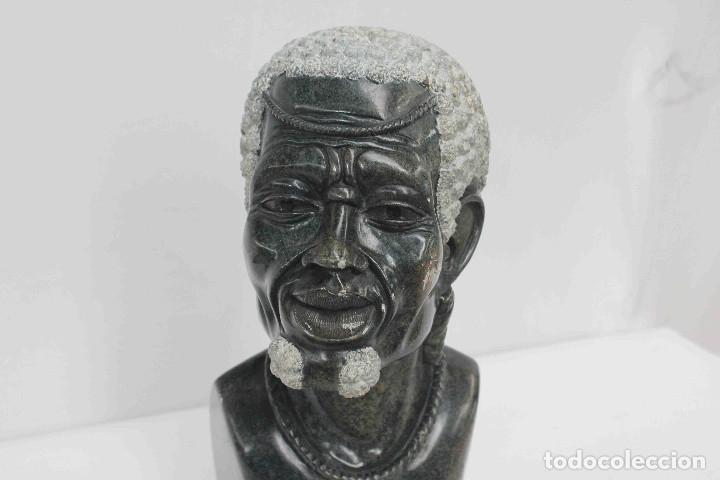 Arte: BUSTO HOMBRE AFRICANO PIEDRA - Foto 2 - 183003631