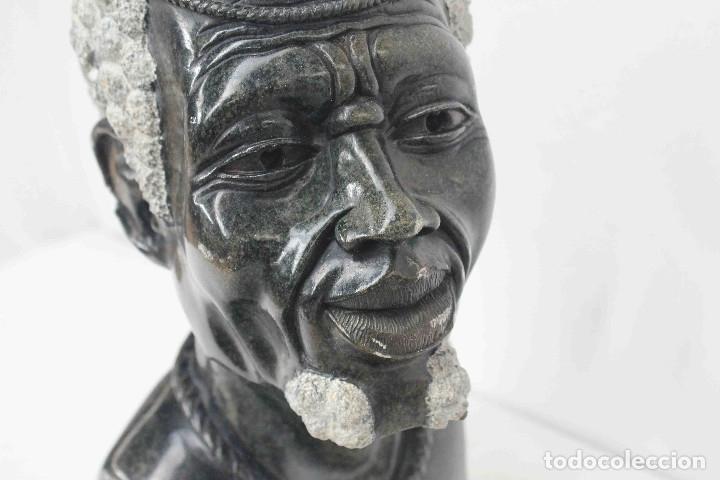 Arte: BUSTO HOMBRE AFRICANO PIEDRA - Foto 3 - 183003631