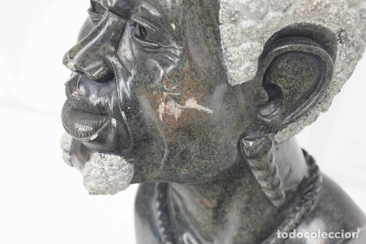 Arte: BUSTO HOMBRE AFRICANO PIEDRA - Foto 4 - 183003631