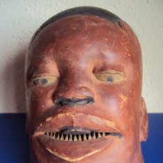 Arte: (ANT-191017)MASCARA RITUAL - ARTE AFRICANO - GRUPO ETNICO MAKONDE - MOZAMBIQUE Y TANZANIA. Lote 183226626