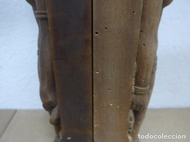 Arte: Antiguos 2 plafon escultura figura africana de madera tallada, original, de tribu de Africa. - Foto 13 - 183342018
