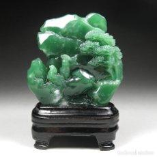 Arte: MUY RARA PIEZA SHOUSHAN SICHUAN XI'AN GREEN . Lote 183629628