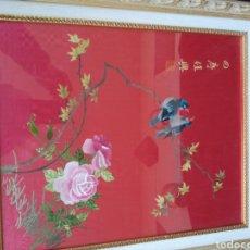 Arte: ANTIGUO BORDADO CHINO EN SEDA. SIGLO XIX. Lote 183695598