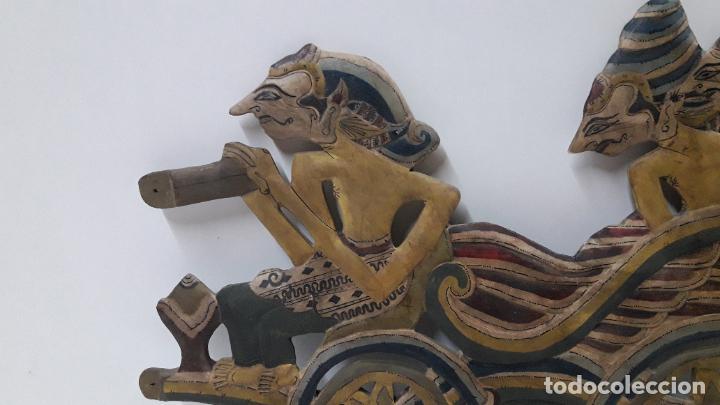 Arte: DOS PARTES DE UN TITERE / MARIONETA ORIGINAL DE LA ISLA DE JAVA . REALIZADO A MANO EN MADERA - Foto 8 - 183817523