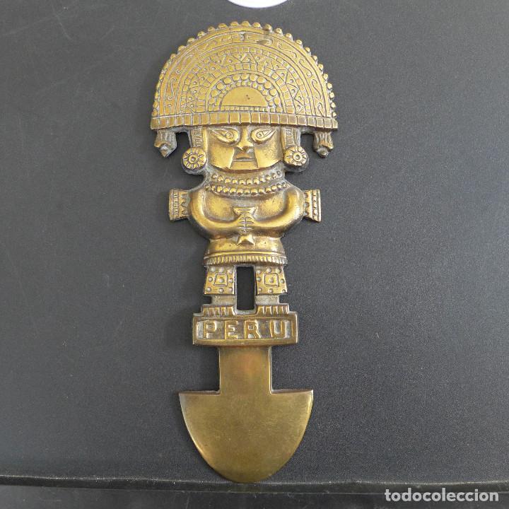 FIGURA PARA COLGAR POSIBLEMENTE EN BRONCE DEL DIOS INCA HUIRACOCHA VIRACOCHA WIRACOCHA DEL PERU (Arte - Étnico - América)