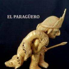 Arte: CAZADOR COCODRILOS PRECOLOMBINA DE ORO TUMBAGA ORFEBRERIA QUIMBAYA)PESO 93 GR MIDE 9X4 CENTIMET-N63. Lote 183946817