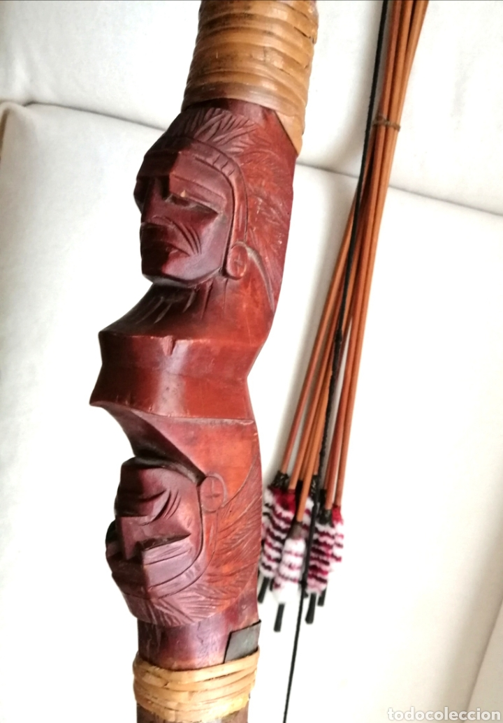 Arte: Arco Tallado Madera Busto de Indios. - Foto 6 - 184212078