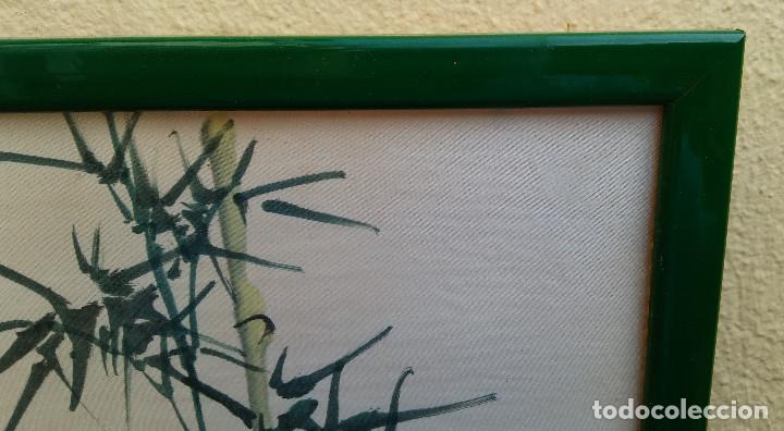 Arte: ANTIGUA PINTURA REALIZADA SOBRE SEDA CHINA, FIRMADA. - Foto 6 - 184589746