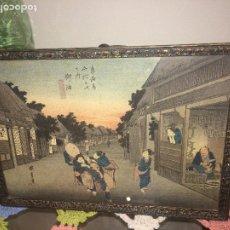 Arte: DIBUJO ACUARELA JAPONÉS - PRIMERA MITAD SIGLO XX - SOBRE PAPEL VEGETAL - ORIGEN INGLATERRA. Lote 184798385