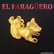 Arte: JAGUAR DE 2 CABEZAS PRECOLOMBINO QUIMBAYA DE ORO TUMBAGA MIDE 2,5 X 4,5 CENTIM PESO 30 GRAMOS - Nº82. Lote 184892406