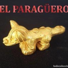 Arte: JAGUAR PRECOLOMBINO QUIMBAYA DE ORO TUMBAGA MIDE 3 X 6,5 CENTIMETROS PESO 25 GRAMOS - Nº83. Lote 184892636