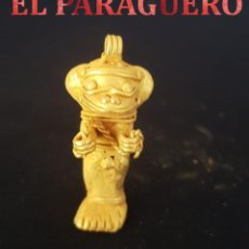 Arte: PACHANE PRECOLOMBINO QUIMBAYA DE ORO TUMBAGA MIDE 5 X 1,5 CENTIMETROS PESO 16 GRAMOS - Nº29. Lote 184892833