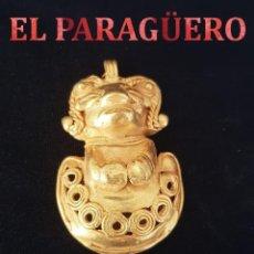 Arte: TOTTEN PRECOLOMBINO QUIMBAYA DE ORO TUMBAGA MIDE 5 X 3 CENTIMETROS PESO 23 GRAMOS - Nº86. Lote 184893398