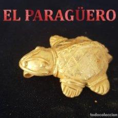 Arte: TORTUGA ZOOMORFA PRECOLOMBINO QUIMBAYA DE ORO TUMBAGA MIDE 5 X 4 CENTIMETROS PESO 27 GRAMOS -Nº88. Lote 184893811