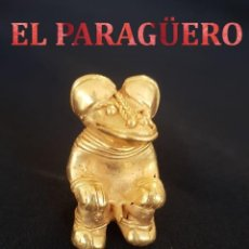 Arte: HOMBRE ZOOMORFO PRECOLOMBINO QUIMBAYA DE ORO TUMBAGA MIDE 4 X 2,5 CENT PESO 25 GRAMOS -N92. Lote 184895392