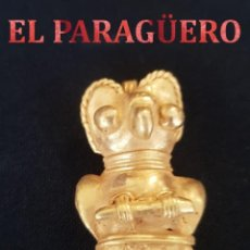 Arte: RARO BUHO ZOOMORFO PRECOLOMBINO QUIMBAYA DE ORO TUMBAGA MIDE 4 X 3 CENT PESO 16 GRAM -N94. Lote 184895648