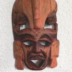 Arte: MÁSCARA ÉTNICA AFRICANA TALLADA MADERA. Lote 184922476
