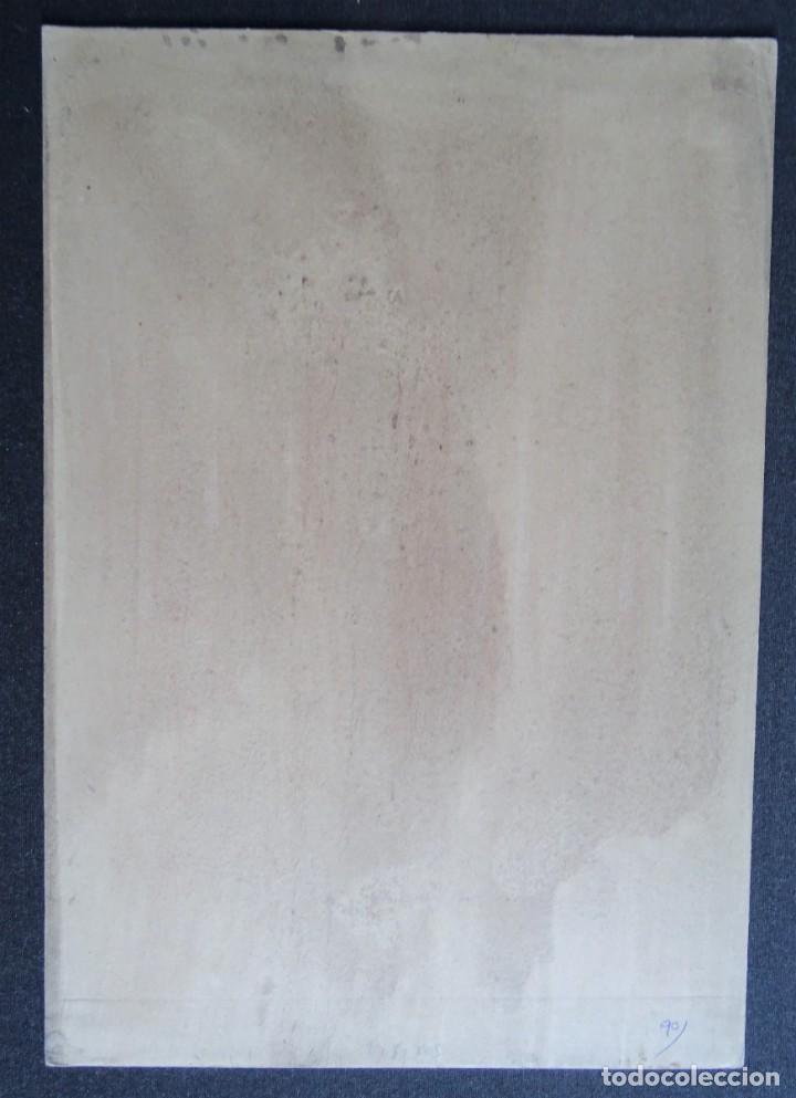 Arte: 3 cuadros, pintados, imágenes del Kamasutra, ca. 1900, India - Foto 14 - 185711495