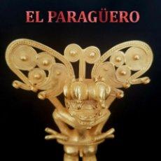 Arte: CACIQUE RAMASSON PRECOLOMBINA QUIMBAYA DE ORO TUMBAGA PESO 101 GRAM - Nº101. Lote 186102946