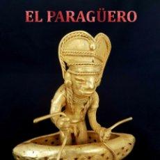 Arte: INDIO PESCANDO EN SU BALSA PRECOLOMBINA QUIMBAYA DE ORO TUMBAGA PESO 98 GRAM - Nº104. Lote 186105162