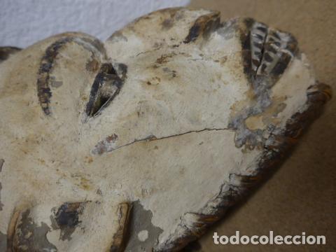 Arte: Antigua mascara casco para ponerse a ritual, africana de madera, de tribu igbo de Nigeria, Africa. - Foto 10 - 186177462