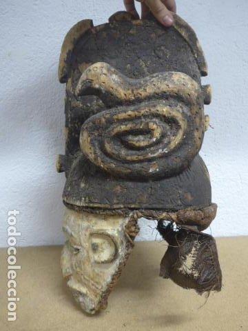 Arte: Antigua mascara casco para ponerse a ritual, africana de madera, de tribu igbo de Nigeria, Africa. - Foto 15 - 186177462