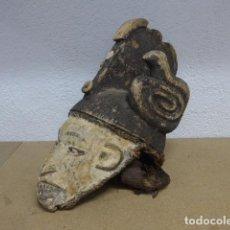 Arte: RESERVADO ANTIGUA MASCARA CASCO PARA PONERSE A RITUAL, AFRICANA DE MADERA, DE TRIBU IGBO DE NIGERIA. Lote 186177462