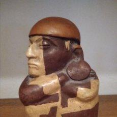 Arte: INDIGENA DURMIENDO CULTURA MOCHICA DE PERU. Lote 186182181