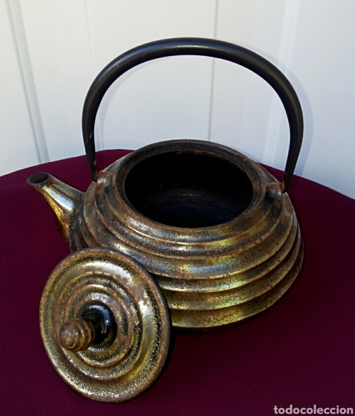 ANTIGUA TETERA ORIENTAL - CHINA DE HIERRO FUNDIDO - SELLADA - SIGLO XIX (Arte - Étnico - Asia)