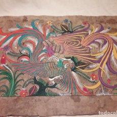 Arte: BELLA PINTURA ARTE POPULAR MEXICANO PINTADA A MANO EN PAPEL AMATE. Lote 188485170