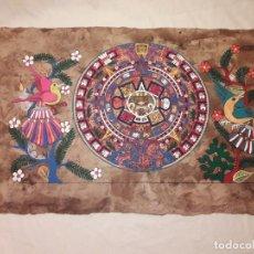 Arte: BELLA PINTURA ARTE POPULAR MEXICANO PINTADA A MANO EN PAPEL AMATE. Lote 188485473