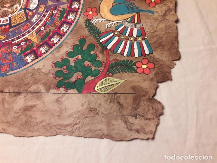 Arte: Bella pintura arte popular Mexicano pintada a mano en papel Amate - Foto 5 - 188485473