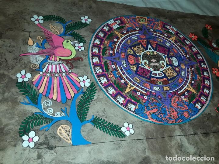 Arte: Bella pintura arte popular Mexicano pintada a mano en papel Amate - Foto 6 - 188485473