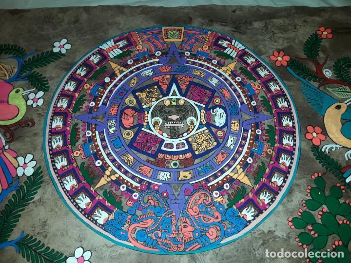 Arte: Bella pintura arte popular Mexicano pintada a mano en papel Amate - Foto 7 - 188485473