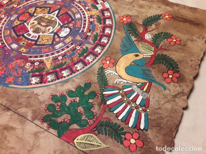 Arte: Bella pintura arte popular Mexicano pintada a mano en papel Amate - Foto 9 - 188485473